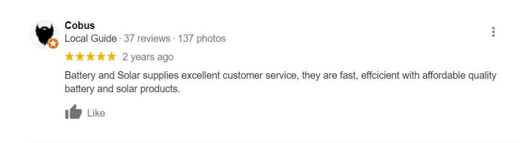 battery & solar review best customer service